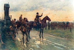 Fr Gleeson on horseback