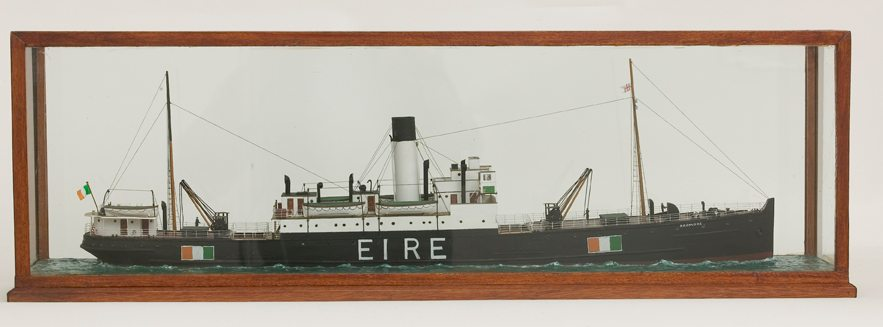 Model of 'The SS Ardmore' on display in the Soldiers & Chiefs Exhibition at the National Museum of Ireland at Collins Barracks, Dublin.