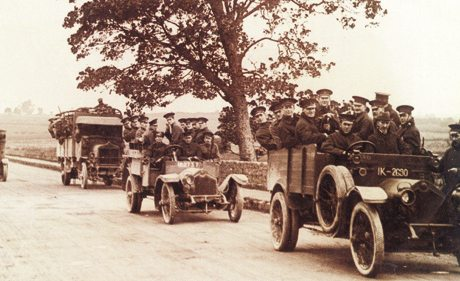 Peerless armoured Car on Patrol