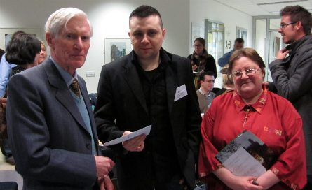 Our photograph shows Paul receiving his prize from the Chairman of the Trust, Major General (retd) Paddy Nowlan, in the company of Ms Deirdre McMahon, Secretary of the Irish History Students Association, at their Annual Conference at University College Cork in February 2011.