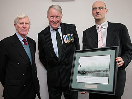 Our picture here shows Col Falloon with Gen Paddy Nowlan, Chairman of the Military Heritage of Ireland Trust, and Mr Lar Joye who accepted the presentation on behalf of the National Museum.