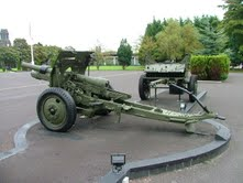 18 pdr field gun, of the 1914-18 period, on display