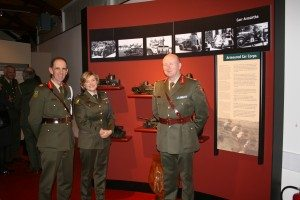 G.O.C. Defence Forces Training Centre Brig. Gen. Conor O'Boyle , Comdt. Miriam McCann, who is Officer in Charge of the Museum and the Chief of Staff Lt Gen Sean McCann